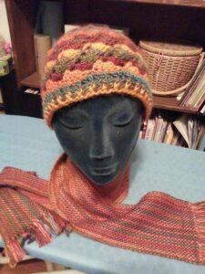 Orange Hat w/Scarf