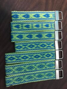 Green and blue Key Fobs