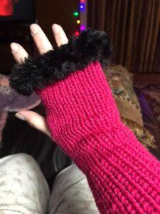 Pink and Black Handwarmer